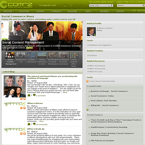 Comrz Social Commerce News Topic Channel
