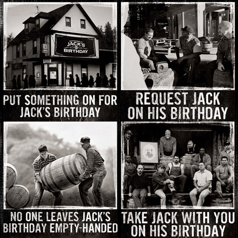 Heritage-style Jack Daniel's advertisement photography