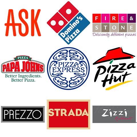 Leading pizza chains - eat-in and take-out