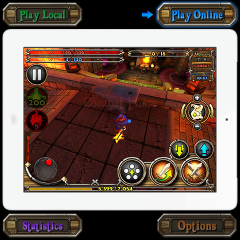 Multi-player, co-operative cross-platform tablet interaction is a taste of the future of social gaming