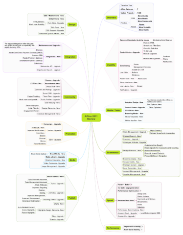 Affino 2011 Highlights - Mindmap