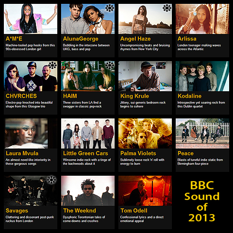 Sound of 2013 - BBC, MTV and iTunes