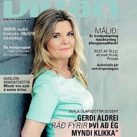 Cousin Svala features on the front cover of major Icelandic weekly - Vikan